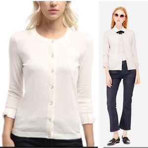 Kate Spade New York Somerset Cardigan in Cream